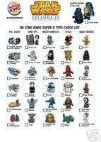 STAR WARS Burger King Toys COMPLETE SET 31 Darth Vader