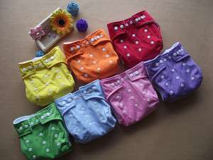 WHOLESALE LOT 50 pcs Reusable Baby Cloth Diaper Nappy + 50pcs Inserts