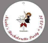 Personalized BACHELORETTE PARTY Circle Favor Tags