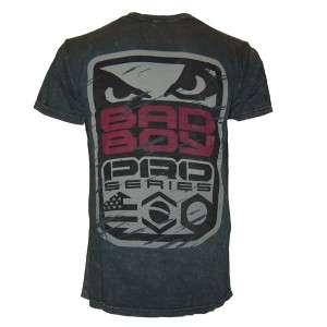 BAD BOY PRO SERIES 012 MMA BJJ UFC SHIRT CHARCOAL MED