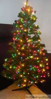 Everything Pictured. 7.5ft Prelit Sierra fir Artificial Full Christmas