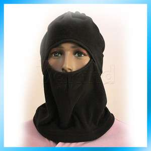 Hole Black Balaclava Full Face Mask Cap Hat Ski 2 Layers Shield Hood
