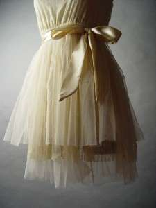 Lace Tulle Skirt Romantic Ballet Ballerina Style Party Dance Ivory