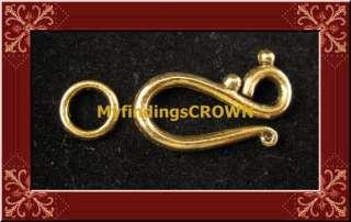 50sets Antiqued gold Hook & RING toggle clasps FC1277