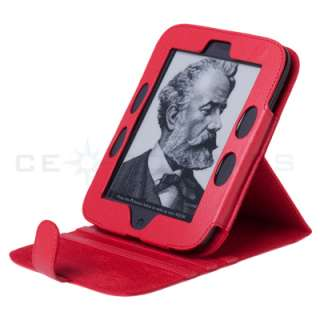 Barnes Noble Nook 2 2nd Edition Generation Red Leather Case Cover