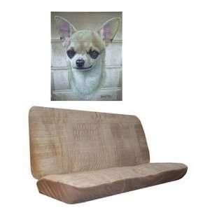 Car Truck SUV Chihuahua Dog Print Rear Bench or Small