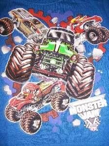 New MONSTER JAM GRAVE DIGGER Truck Boys Toddler Long Sleeve T Shirt 2T
