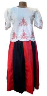 Philippines FILIPINIANA COSTUMES Skirt MARIA CLARA New!