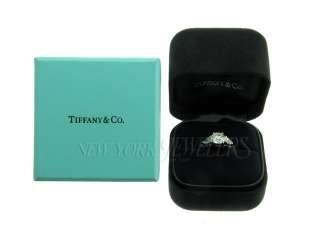 TIFFANY & CO PLATINUM DIAMOND ENGAGEMENT RING SIZE 5.25