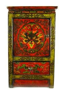 TIBETAN DRAGON SIDE STAND Cabinet Altar Display 29 New