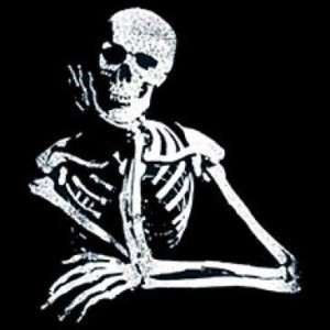 SHIRT   BIKER   Thinking Skeleton   SM XL