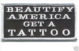 BEAUTIFY AMERICA TATTOO,High Quality Jacket Patch, #931