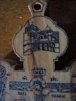 Orthodox Christian Jerusalem wood burning shrine Cross