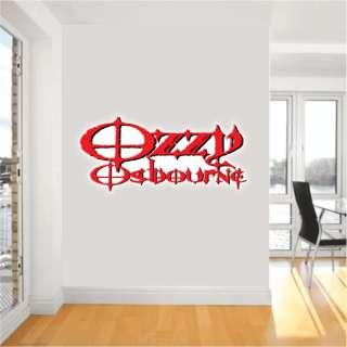 Ozzy Osbourne Ozzie Music Wall Sticker Decor 24 Long