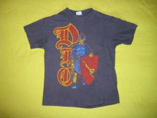 Vintage DIO 1986 T SHIRT concert tour black sabbath 80s