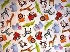 JUNGLE ANIMALS print 100% Cotton Fitted Porta Crib Shee