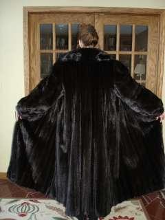 Magnificent SCAASI FEMALE RANCH MINK FUR COAT 52 LENGTH & HUGE 106