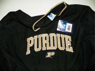 NWT NCAA Purdue L Large Poly Windbreaker Shirt Jacket Black