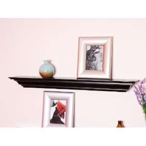 Inch X 5.25 Inch Corona Crown Molding Wall Shelf Black