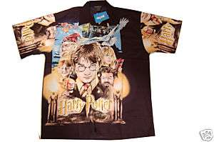New Harry Potter Button Down Short Sleeve Shirt Large