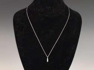 Fire 18K White Gold Necklace .33 Ct. Diamond Illusion Pendant