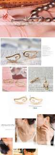 pair of Fashion Elegant Hollow Heart shaped earrings cute