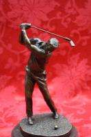 Art Deco Bronze Sculpture Statue Figure Golf Player Golfer