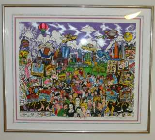 Charles Fazzino Remembering 70s TV 3D Monoprint Signed