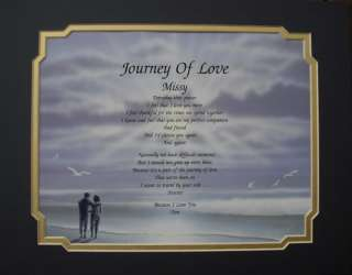 JOURNEY OF LOVE PERSONALIZED POEM HUSBAND WIFE GIFT