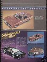 1982 General Lee Cannon Ball Run Car Model Toy Ad
