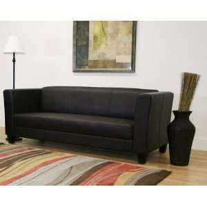 Boyle Dark Brown Faux Leather Sofa and Chair Set Wholesale