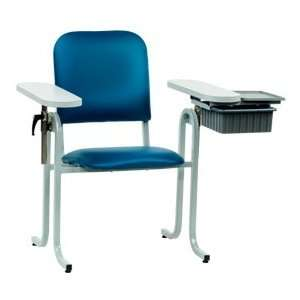 McKesson Blood Draw Chair Upholstered Seat With Drawer Blue   Model 63