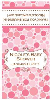 MINI BABY SHOWER CANDY BAR WRAPPERS PINK GIRL DESIGNS