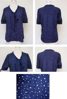 NWT JASON WU FOR TARGET NAVY POLKA DOT SHIRT BLOUSE DRESS TOP