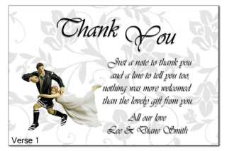 personalised wedding thank you cards 4 verses rugby