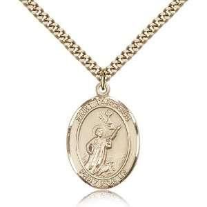 Chain In A Grey Velvet Gift Box Patron Saint of Altar Boys/Altar Girls