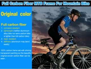 26er Full 3K Carbon Fiber Mountain Bike Frame 26 BF3
