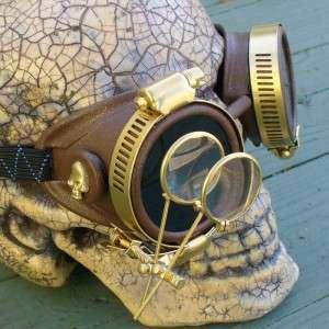 Steampunk Goggles Glasses cyber lens goth Victorian bgl