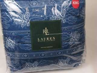 Ralph Lauren BIARRITZ Toile 11P Queen Duvet Cover Quilt