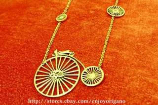 VTG InspirationBIG BICYCLE WHEELSBIKE Design Necklace