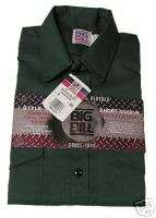 Big Bill Green Med Short Sleeve Button Work Shirt NWT
