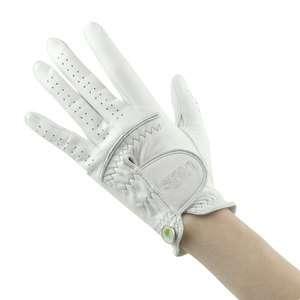 birdie Golf Glove White 100% Genuine Leather Womens Right /Left Hand