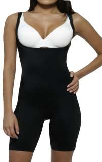 Black Full Body Long Leg Shapewear BodyShaper Firm Control Fajas