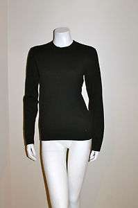 NWT MICHAEL KORS BLACK CREW NECK COTTON SWEATER SMALL