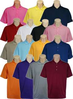 Golf ClimaLite Solid Textured Polo Shirt, Mens Small   2XL