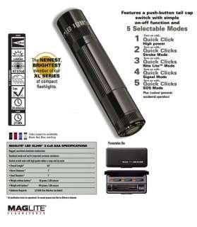 Maglite XL200 LED Flashlight Gift Box Black XL200 S3017