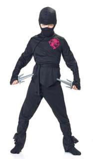 Black Ninja Boy Fighter Child Halloween Costume