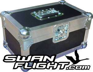 single 200 Swan Flight Case record box (Black)
