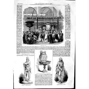 1853 TERRA COTTA COURT EXHIBITION WARRIOR VASE TAZZA