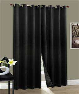 CARNIVALE 54x63 Grommet Top Panel Black color Blackout Curtain. I am